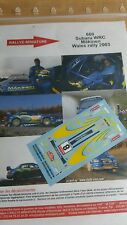 DECALS 1/32 REF 660 SUBARU IMPREZA WRC TOMMI MAKINEN WALES RALLY 2003 RALLYE