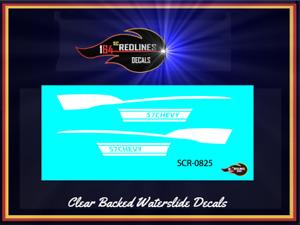 1977 Hot Wheels Redline '57 Chevy' WHITE Custom Decal SCR-0825