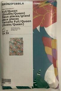 New IKEA SKOGSFIBBLA Full/Queen Duvet cover and 2 pillowcases, multicolor