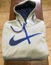 Nike L/S hooded sweatshirt size L gray, blue ThermaFit