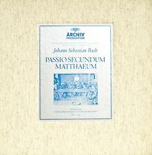 J.S.BACH MATTHÄUS PASSION ARCHIV PRODUKTION IM FORSCHUNGSBEREICH BACH (c902)