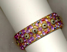 NWOB LILAC BEADED ♥ EXOTIC PERSIAN BANGLE  BRACELET♥ 2 CMS. THICK