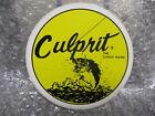 "Culprit Classic Worm Bass Fishing Lure Decal Sticker 3"""