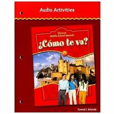 Como te va? Intro Nivel rojo, Glencoe Middle School Spanish, Audio Activities