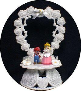 Nintendo Super MARIO Princess Wedding Cake Topper TOP Princess Peach groom top