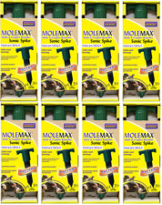 (8) Bonide Molemax 61118 Battery Operated Mole & Gopher Repellent Spikes