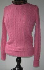 GAP Women's Pullover Sweater Crew Cable Knit Soft Pink size Small