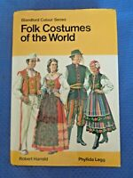 Folk Costumes of the World by Robert Harrold Blandford Colour Series Tibet Cuba
