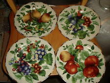"Set of 4 Sakura Sonoma Excell Fruit Pattern Salad Plates 8 1/8"""