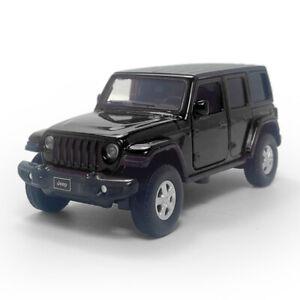 Jeep Wrangler Sahara SUV 1:36 Model Car Diecast Toy Vehicle Gift Pull Back Black