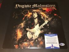 Yngwie Malmsteen Signed World On Fire Vinyl Album Rock Superstar Beckett