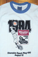 NASCAR T Shirt Vintage 80s 1984 Winston Cup Racing Ringer Single Stitch Sz Small