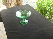 Vintage Depression Green Glass Compote/Candy Dish