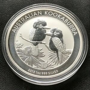 2013 Australian Kookaburra 1 Ounce .999 Silver Coin Original Perth Mint Capsule