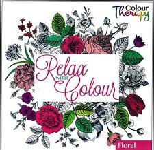 Détendez-vous avec couleur-adult coloring book floral design-idéal x-mas cadeau - 6845