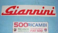 FIAT 500 F/L/R 126 ADESIVO SCRITTA GIANNINI ROSSA LUNGA X CARROZZERIA VETRO ECC.