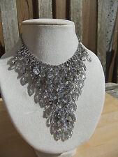 Juliana Vintage Necklace With Tag  Rhinestone Bib Runway