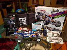Tamiya Fighting Buggy RC Car, complete setup w/ factory battery, charger, & BAG