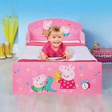 OFFICIAL PEPPA PIG TODDLER BED PINK SIDE GUARDS BEDROOM KIDS JUNIOR
