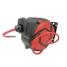 """D Pro Tools 30ft 10m Auto Retractable Air Line Hose 5/16""""Compressor Reel Wall"""