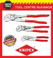 KNIPEX 3pce ADJUSTABLE PLIERS WRENCH SET – 8603150, 8603180 & 8603250