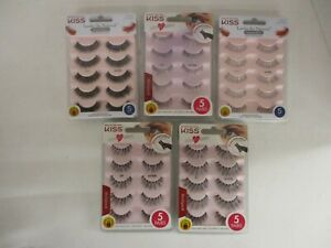 25 PAIRS KISS MULTI-PACK FALSE EYELASHES - ASSORTED - HN 2786