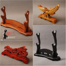 Dragon / Eagle Engravd Wooden Stands Display Holder For Japanese Katana Swords