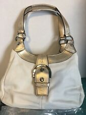Coach Soho Leather Hobo New with tag and both bags . White leather and Gold