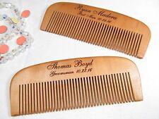 Engraved Wood Beard Hair Comb Personalized Groomsmen Groomsman Best Man Gifts