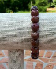 "Mens Healing Bracelet Gemstones Portugul Agates New 8"" FQli Handmade"