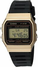 Casio F-91WM-9ACF Men's Classic Black Gold Resin Casual Watch