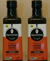 Spectrum Culinary Organic Cayenne Pepper Extra Virgin Olive Oil 12.7 oz. 2 COUNT