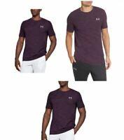 NewUnder Armour Men's Vanish Seamless T-Shirt Large Old Burgundy MJN26