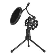 Microphone Pop Filter Holder Stick Tripod Desktop Stand Anti-Spray Net Kit PS-2