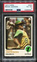 1973 Topps Baseball #255 REGGIE JACKSON Oakland Athletics PSA 4 VG-EX