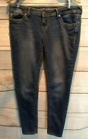 Wallflower Womens Jeans Slim Skinny Leg Embellished Distressed Juniors 13   A155