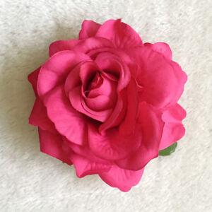 Artifical Large Rose Flower Hair Clip Hair Pin Brooch Bridal Wedding Accessory