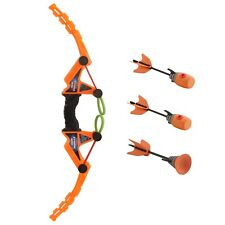 Toy Bow And Arrow Fast Load With 1 Suction Cup & 2 Whistle Arrows Archery TN-30