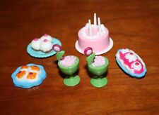 BARBIE DOLL FOOD ITEMS; 6  DESSERTS