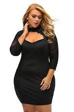 Plus Size Clothing 5X Lace Illusion Cutout Bustier Sheath Dress SEXY US Sz 18 20