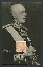 SCHWEDEN MK 1950 GUSTAV V. KÖNIG KING ROI REI CARTE MAXIMUM CARD MC CM d7684