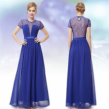 Chiffon Short Sleeve Formal Regular Size Dresses for Women