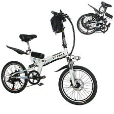 20'' 350W 36V Electric City Mountain Bicycle Cycling Folding Motor Bike White US