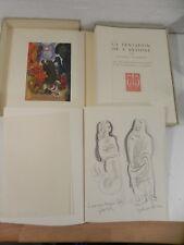 FLAUBERT La tentation de st antoine + Dessin original de DARAGNES 1939 EXNUM