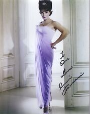 CONNIE FRANCIS HAND SIGNED 8x10 COLOR PHOTO+COA     LEGENDARY SINGER     TO DAVE