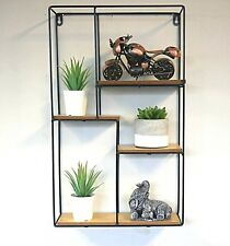 Modern Industrial Style Metal Wall Shelves Storage Unit Mounted Display Shelf
