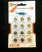 HEXBUG Batteries 12 Pack with Screwdriver LR44 AG13 1.5V