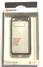 Griffin Reveal Clear Bumper Case Cover For Motorola Droid MINI -Clear / Black