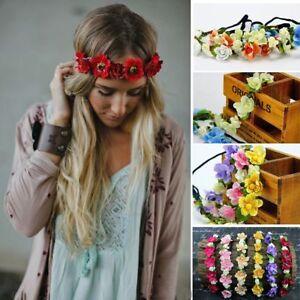 Haarband ELEGANCE Blumen Blume Blumenkranz Stirnband Trachten Dirndl Haarblume