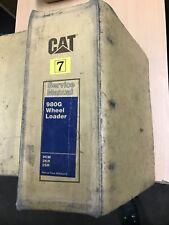 Caterpillar Cat 980G Service Manual book for wheel loader digger workshop